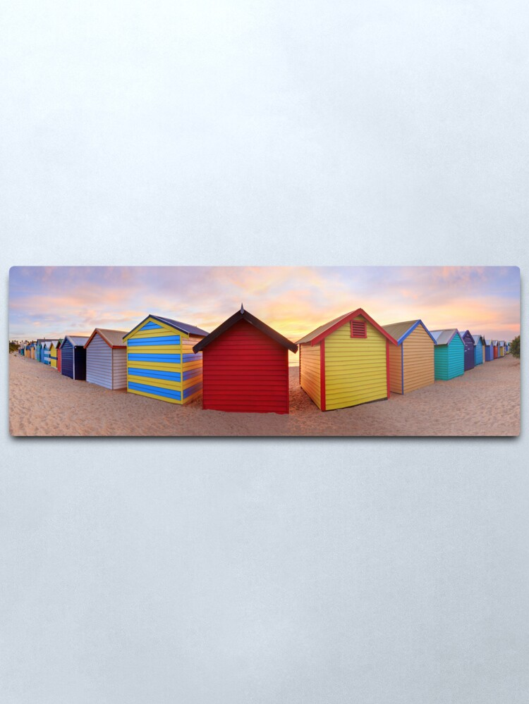 Alternate view of Brighton Beach Boxes, Melbourne, Victoria, Australia Metal Print