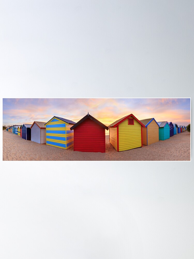Alternate view of Brighton Beach Boxes, Melbourne, Victoria, Australia Poster