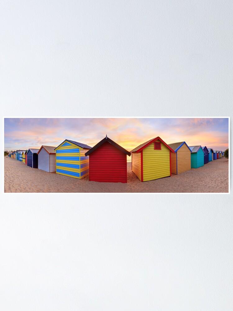 Alternate view of Brighton Beach Boxes, Melbourne, Victoria, Australia Poster
