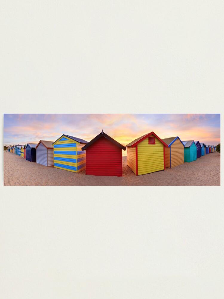 Alternate view of Brighton Beach Boxes, Melbourne, Victoria, Australia Photographic Print