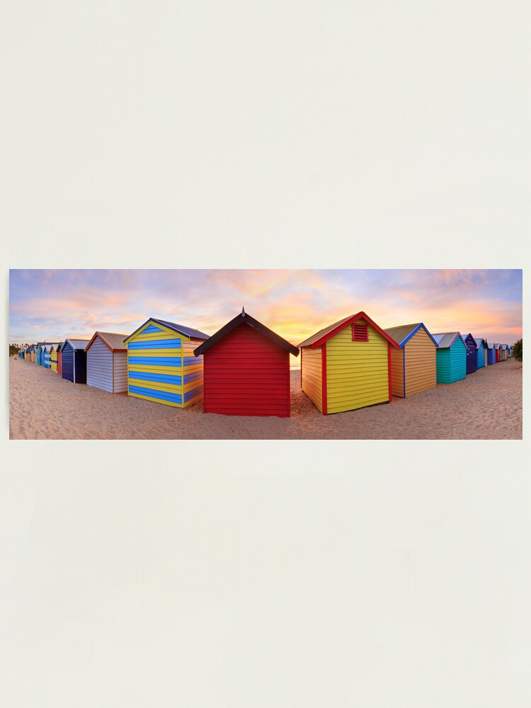 Alternate view of Brighton Beach Boxes, Melbourne, Victoria, Australia Photographic Print