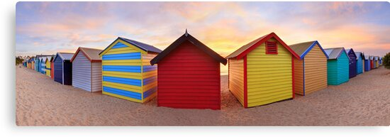 Brighton Beach Boxes, Melbourne, Victoria, Australia by Michael Boniwell