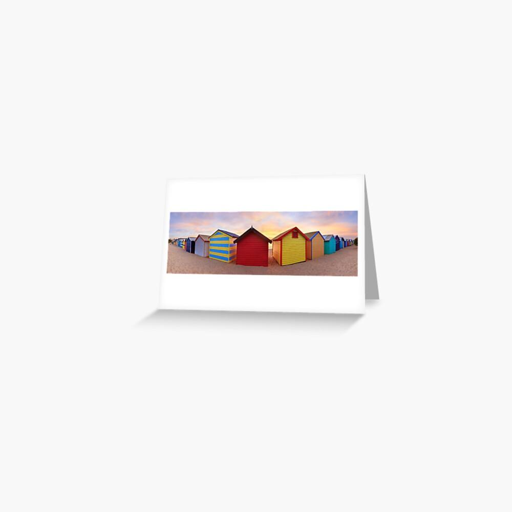 Brighton Beach Boxes, Melbourne, Victoria, Australia Greeting Card
