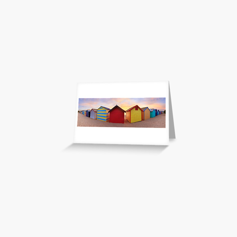 Brighton Beach Boxes, Melbourne, Victoria, Australia Greeting Card