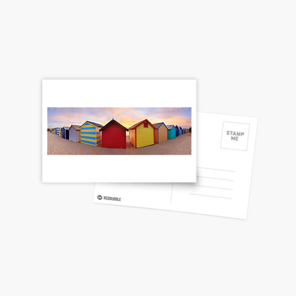 Brighton Beach Boxes, Melbourne, Victoria, Australia Postcard