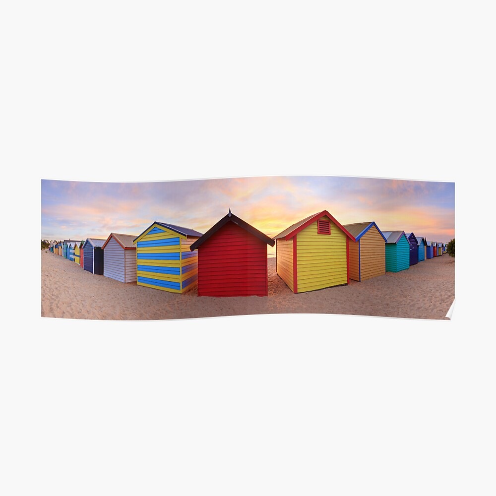 Brighton Beach Boxes, Melbourne, Victoria, Australia Poster