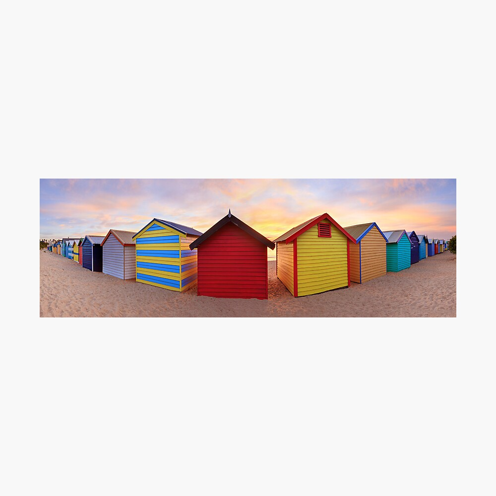 Brighton Beach Boxes, Melbourne, Victoria, Australia Photographic Print