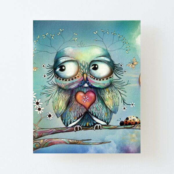 little wood owl Canvas Mounted Print