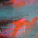 Pink 'n Orange Abstract by Marguerite Foxon