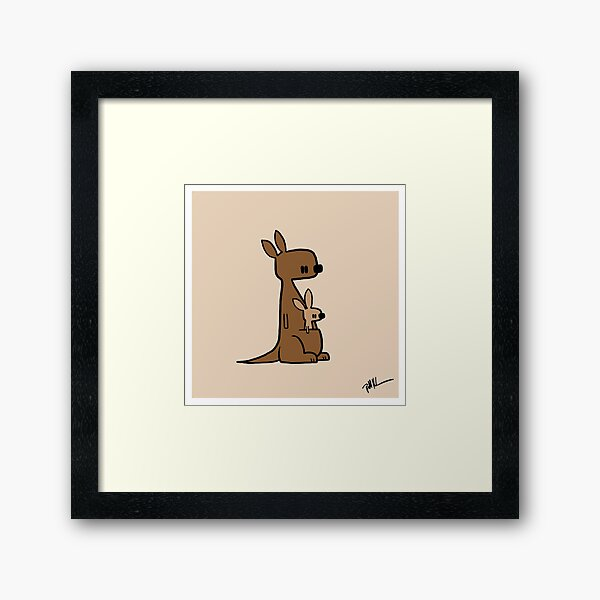 Kangaroo Duo Framed Art Print