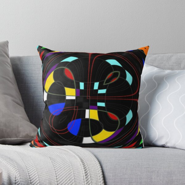 The Twisted Box Throw Pillow