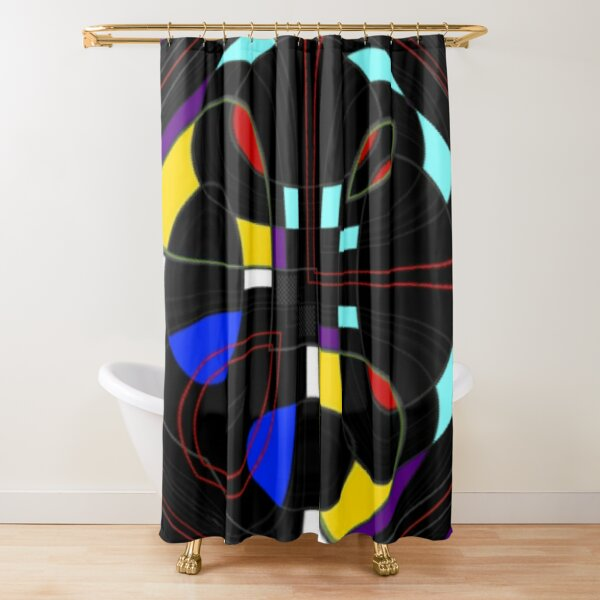 The Twisted Box Shower Curtain