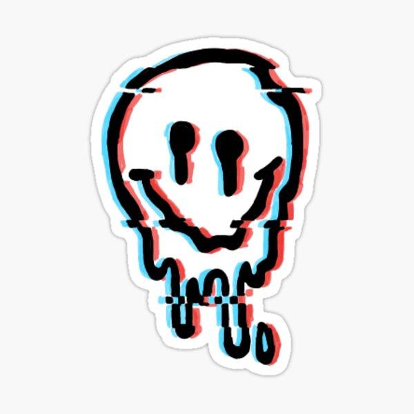 Trippy Smiley Glitch Sticker