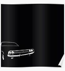 Classic American Muscle Car Poster
