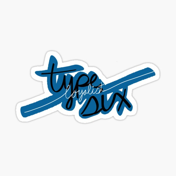 Type six enneagram Sticker
