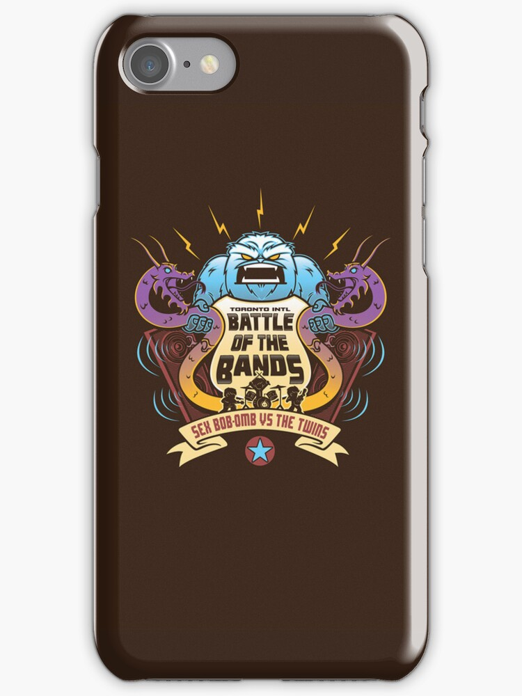 Sex Bob-Omb VS The Twins (iphone Case) by Bamboota