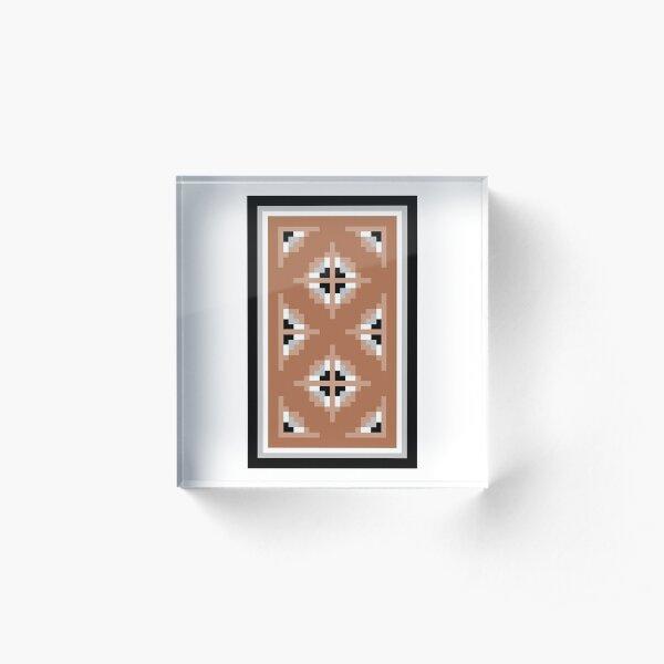 Two Grey Hills Navajo Rug Design 1 Acrylic Block