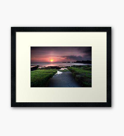 Bali Dreaming - Sunset Framed Print