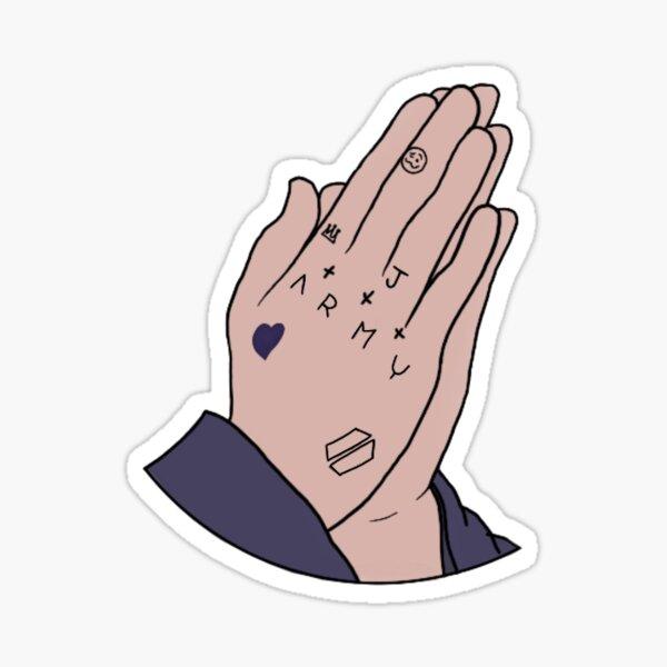 Tatuaje de la mano de Jungkook Pegatina