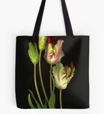 Parrot Tulips Tote Bag