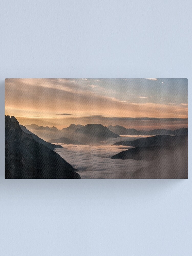 Alternate view of Valley of clouds Canvas Print