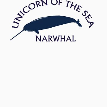 Narwhal, unicorn of the sea by Karlim
