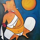 Ganesha.. Inspiration from Hussain 02 by Rahul Kapoor