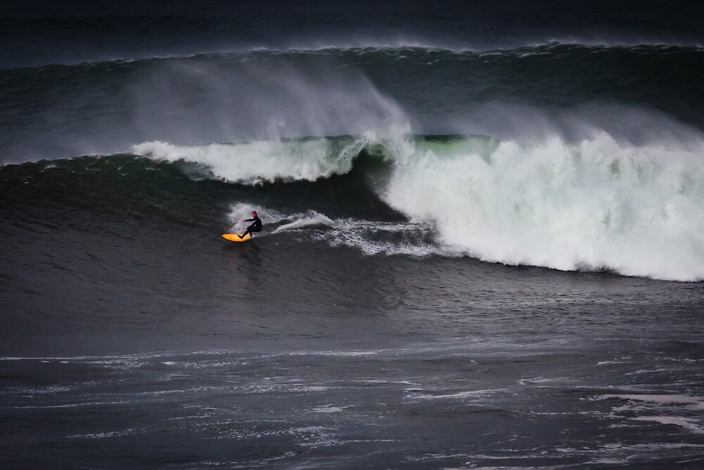 Surfer Bells Beach by Russell Charters