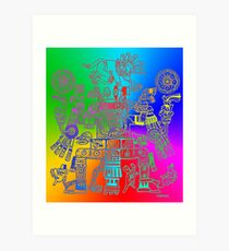 Xiuhtecuhtli, RGB Gods, Myths & Monsters Art Print