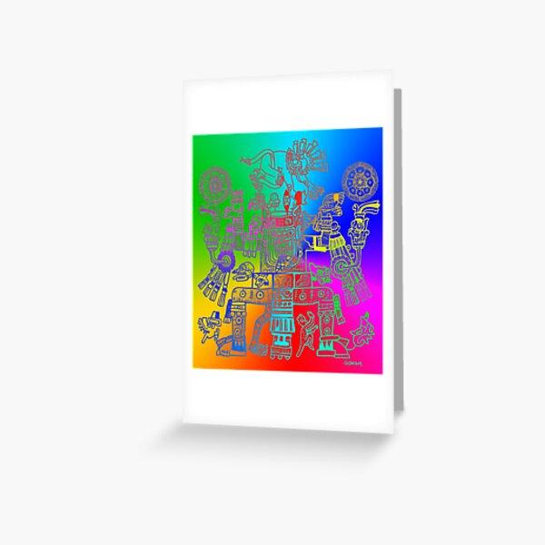 Xiuhtecuhtli, RGB Gods, Myths & Monsters Greeting Card