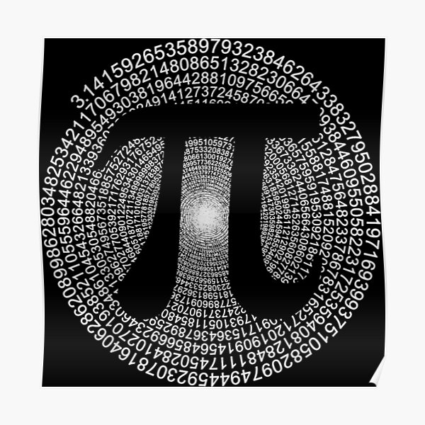 3,14 Pi Number Symbol Math Science Gifts Poster