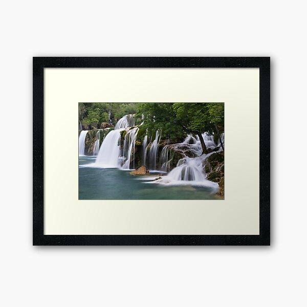 Krka waterfall park Framed Art Print