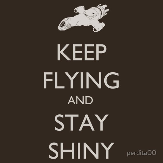 TShirtGifter presents: Keep Flying and Stay Shiny