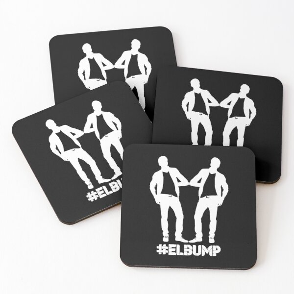 Elbump - the new safe elbow greeting Coasters (Set of 4)