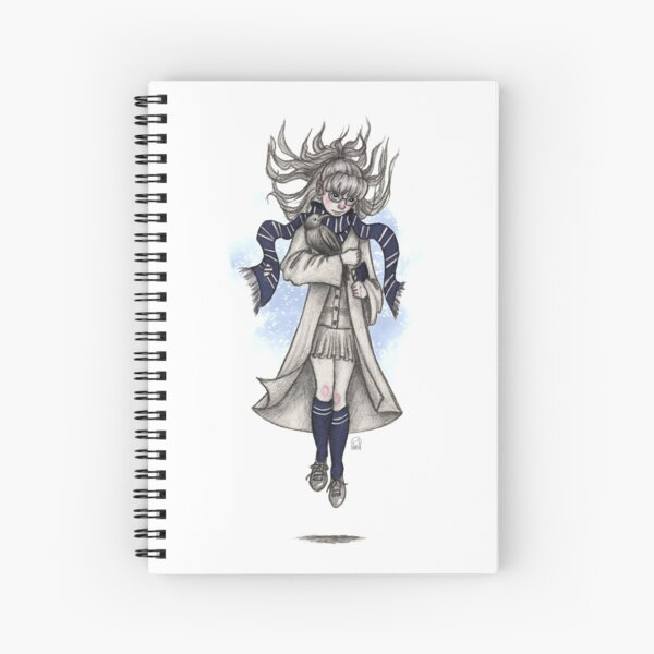 Raven girl Spiral Notebook