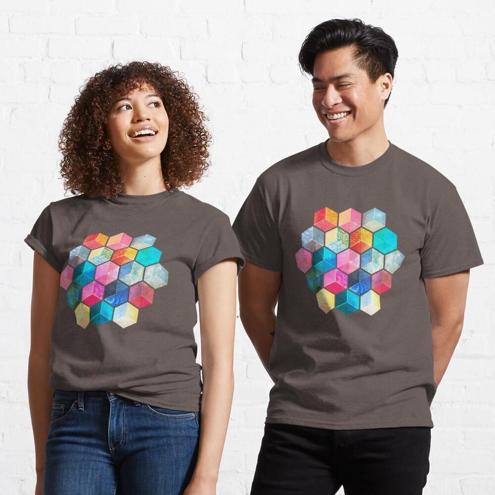 Crystal Bohemian Honeycomb Cubes - colorful hexagon pattern Classic T-Shirt