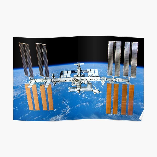 ISS International Space Station Poster