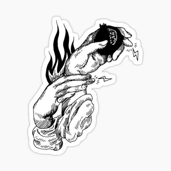 Persephone's Hands Sticker