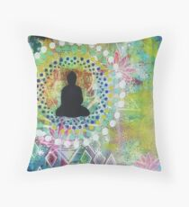 may all beings have happiness Throw Pillow