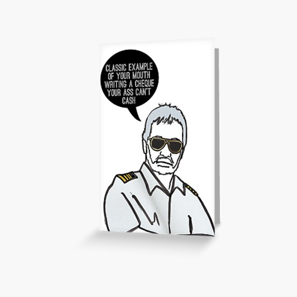 Classic Captain Greeting Card