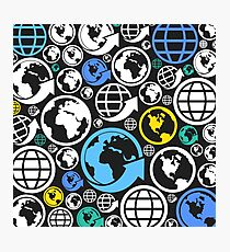 World a background Photographic Print