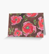 Red-brown deco Greeting Card