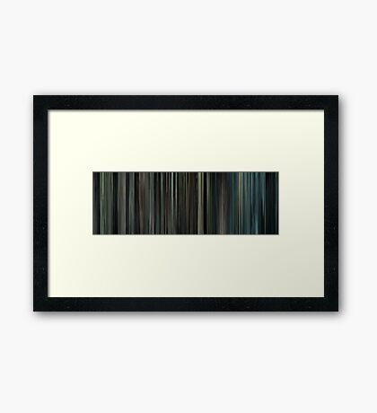 Moviebarcode: Million Dollar Baby (2004) Framed Print