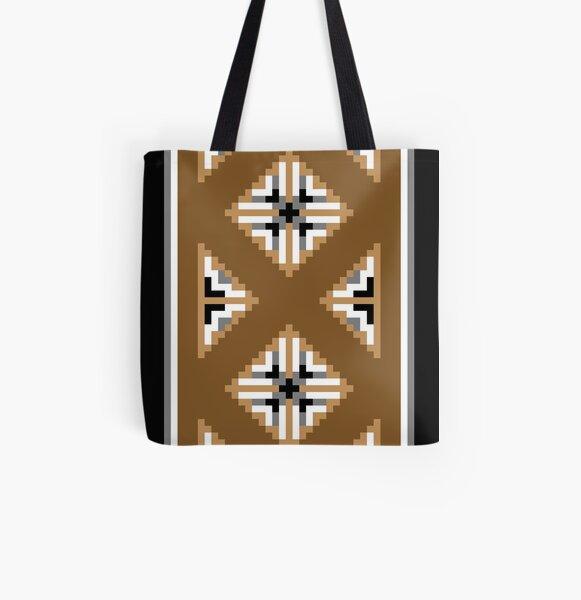 Two Grey Hills Navajo Rug Design 2 All Over Print Tote Bag