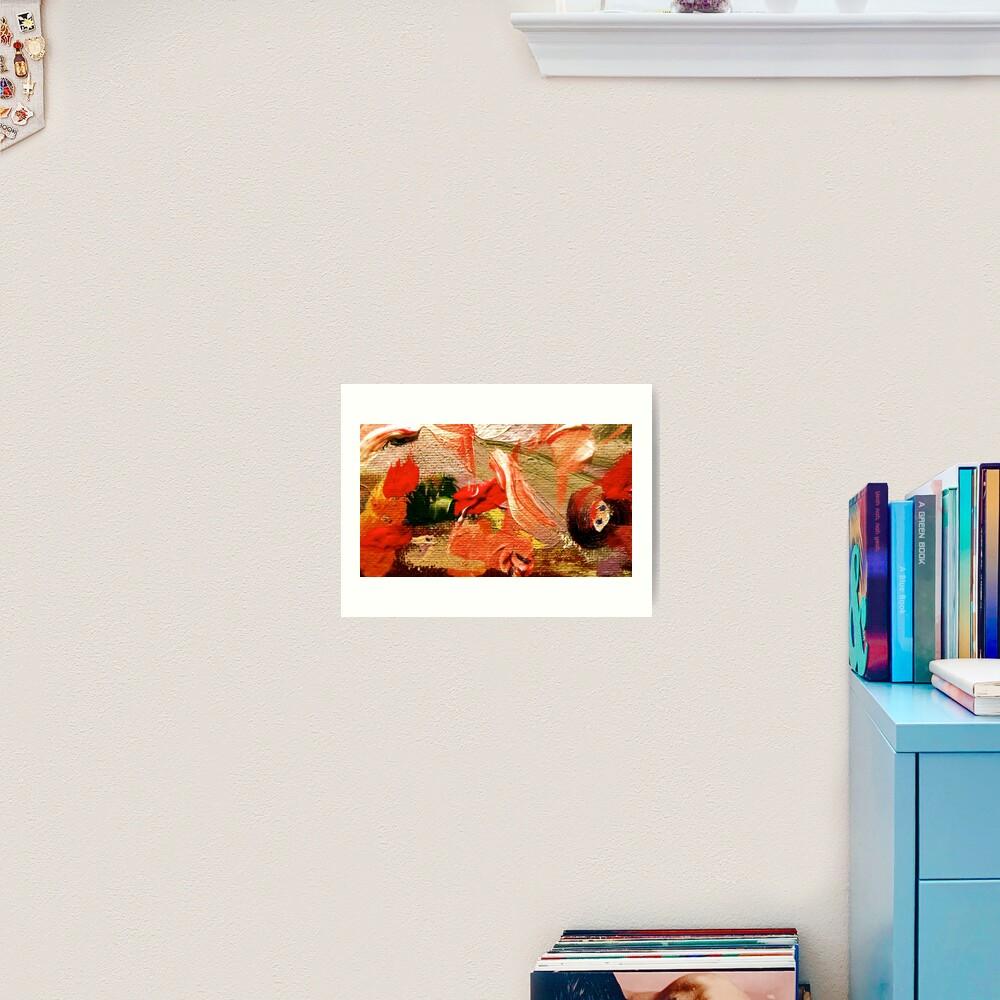 Girl with Baby Birds in Hands Art Print