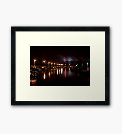 Canal Lights Framed Print