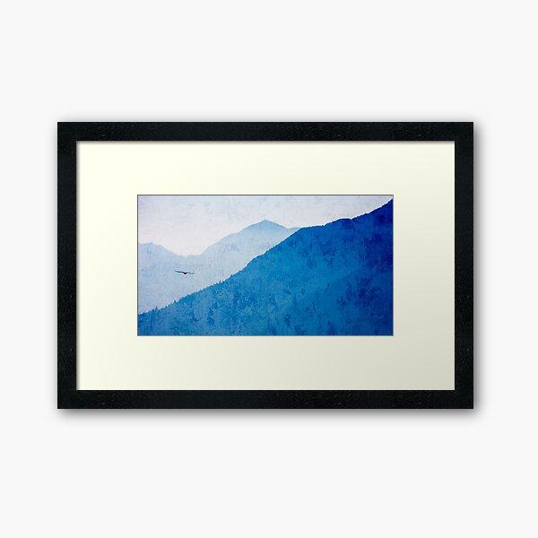 Flight Over West Coast Mountains Framed Art Print