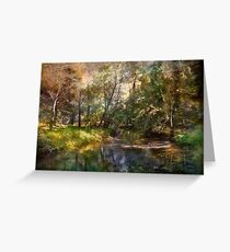 Hopkins Pond, Haddonfield, N.J. Greeting Card