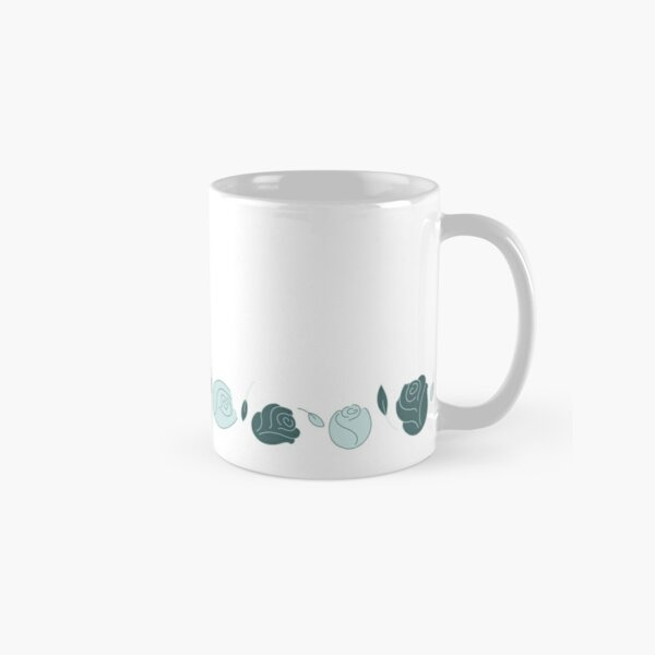 Pine & Mint Roses Collection Floral Seamless Surface Pattern Classic Mug
