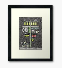Riding home for Christmas Framed Print